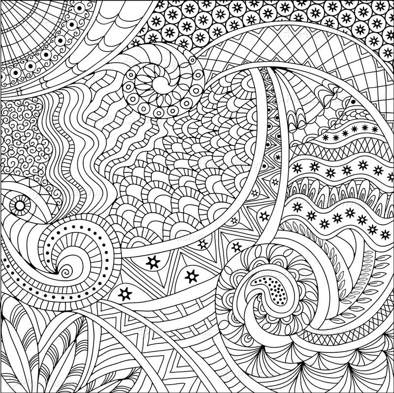 Soyut Yıldızlı Mandala Tablo Burada Pluscanvas
