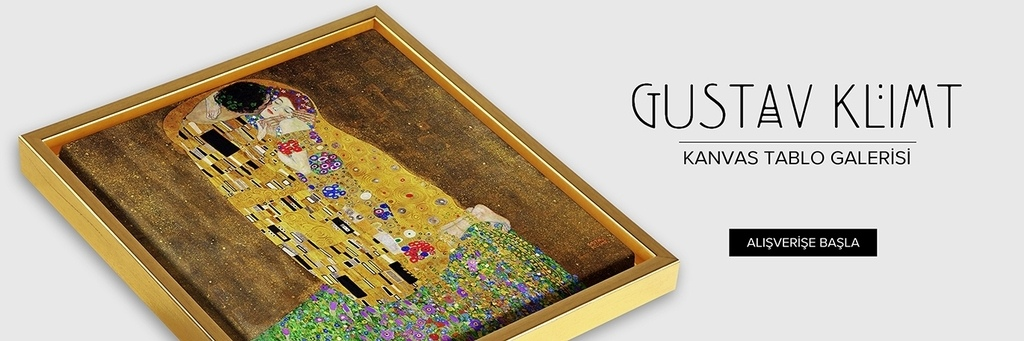 Gustav Klimt kanvas tablo modelleri