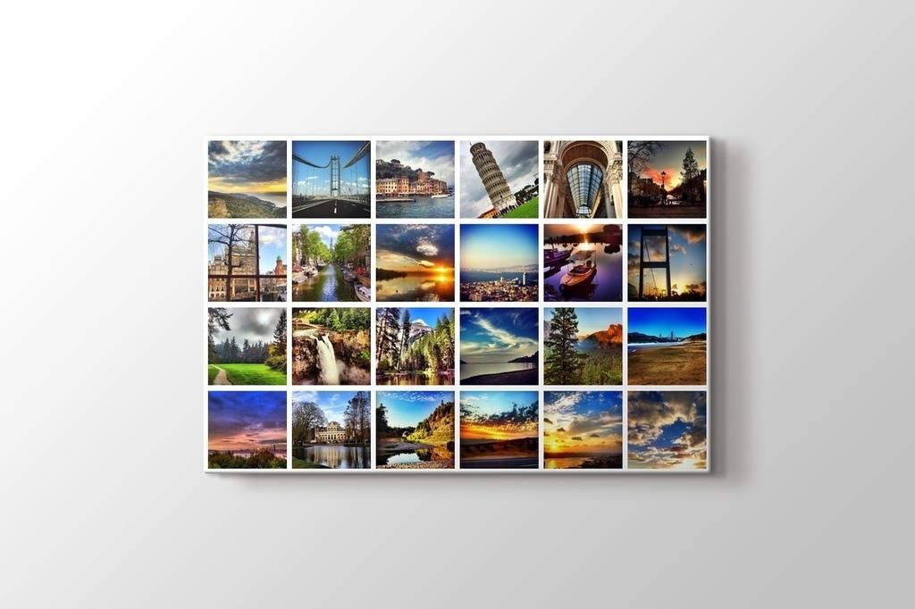 24 fotoğraftan yatay mozaik tablo görseli.
