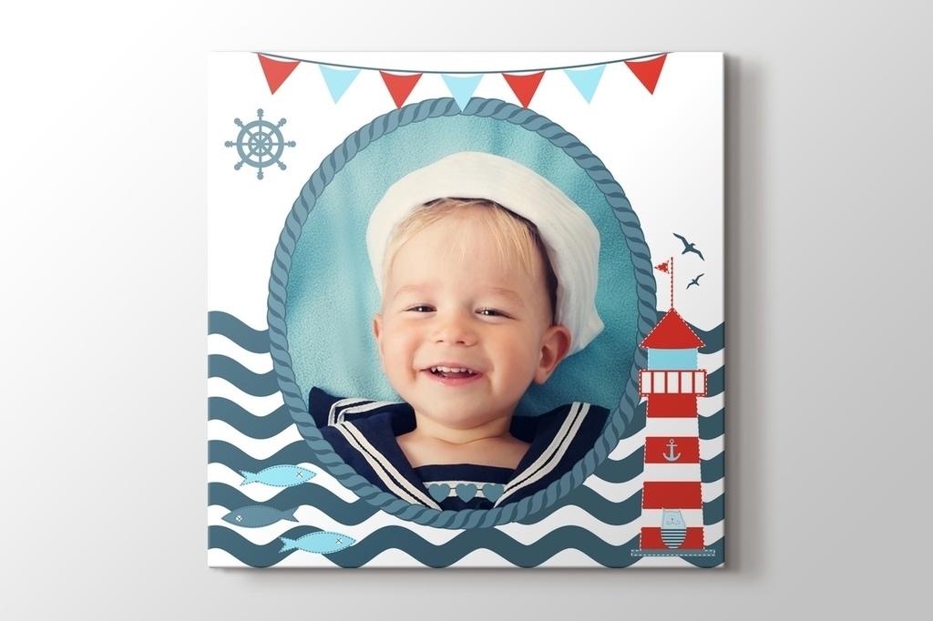 Deniz feneri fotoğrafından kanvas tablo görseli.