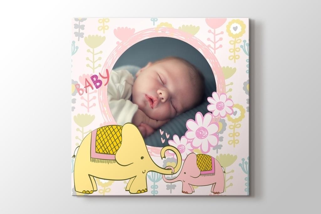 Şirin filler fotoğrafından kanvas tablo görseli.