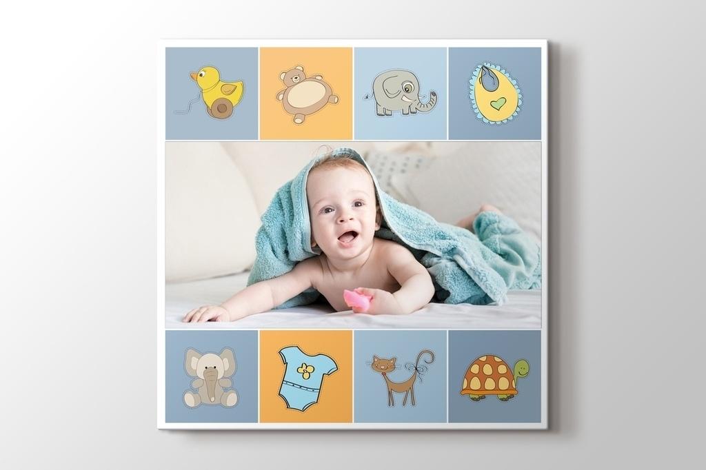 Erkek bebek için fotoğrafından kanvas tablo görseli.