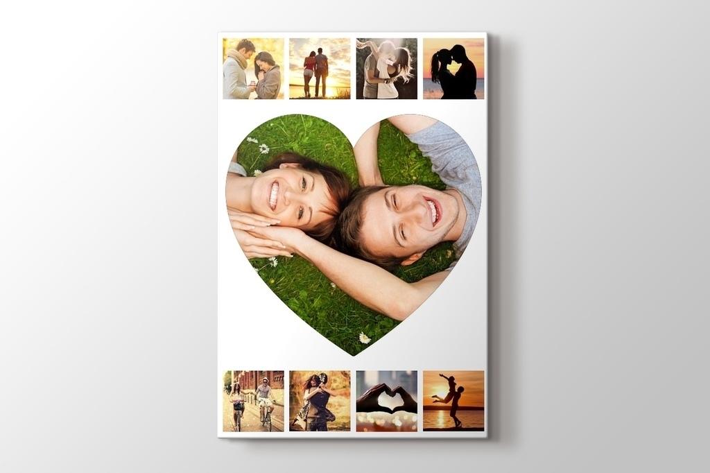 9 fotoğraftan kalpli kolaj tablo görseli.