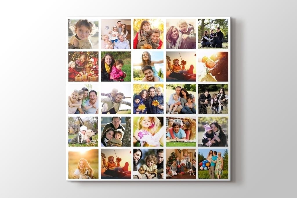 25 fotoğraftan kare mozaik tablo görseli.