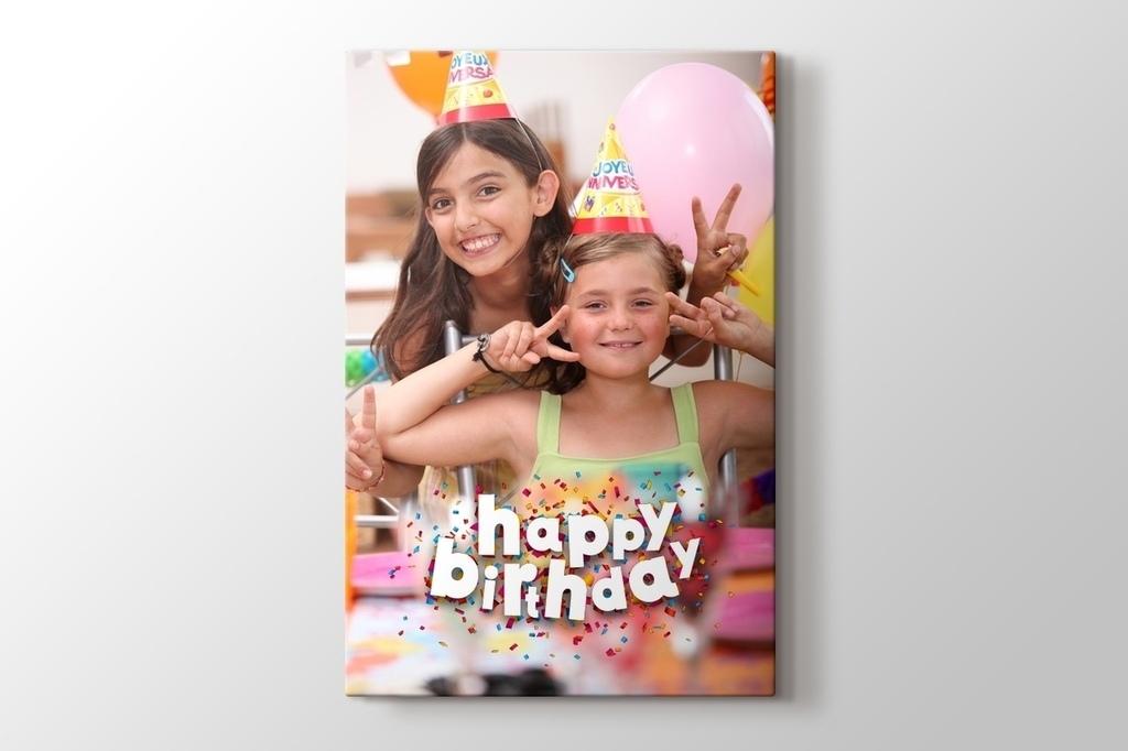 Doğum günü hediyesi kanvas tablo görseli.