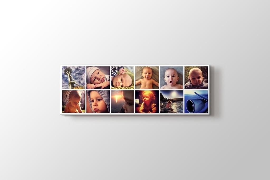 12 fotoğraftan panorama mozaik tablo görseli.