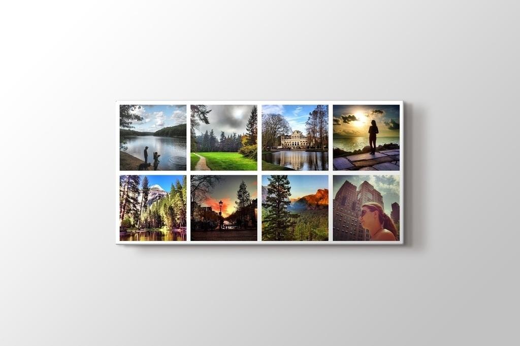 8 fotoğraftan panorama mozaik tablo görseli.