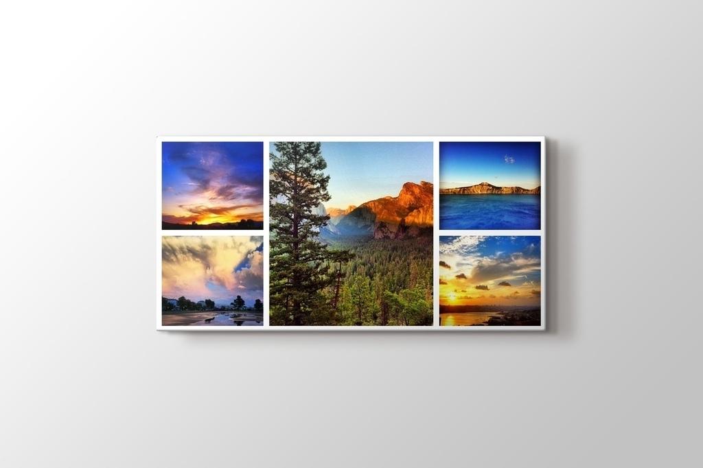 5 fotoğraftan panorama kolaj tablo görseli.