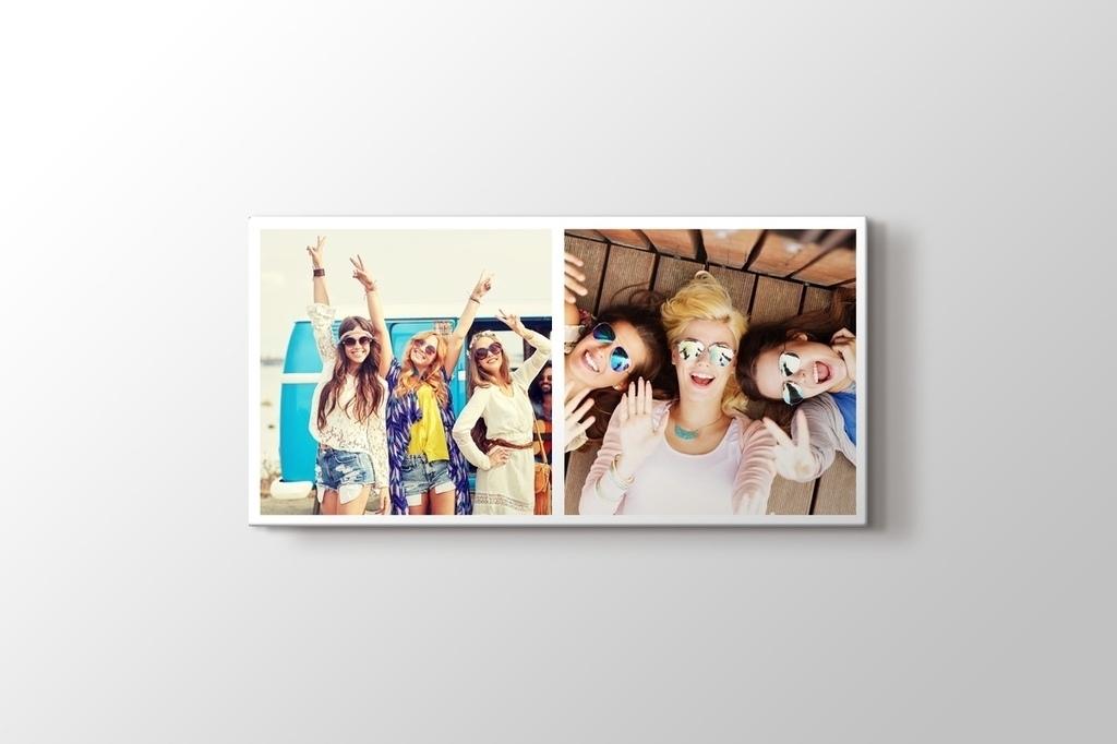 2 fotoğraftan panorama mozaik tablo görseli.