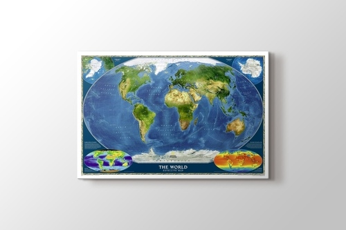 Dünya Uydu Haritası görseli.