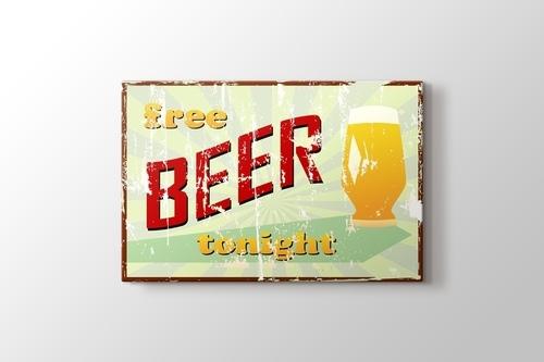 Vintage Bira Afişi görseli.
