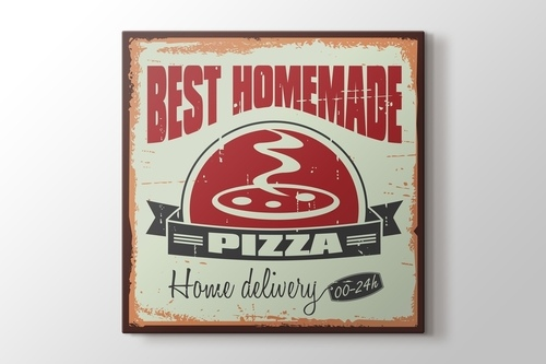 Vintage Pizzacı Afişi görseli.