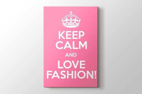 Keep Calm and Love Fashion görseli.