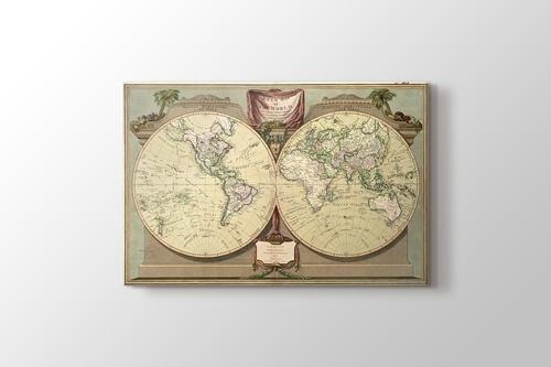 Eski Dünya Haritası 1808 görseli.