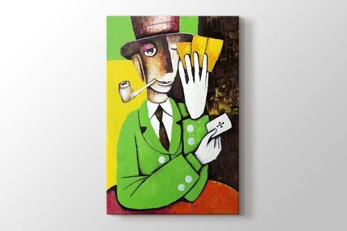 Man Playing Cards görseli.