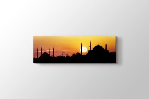 İstanbul - Aya Sofya ve Sultan Ahmet Günbatımı görseli.