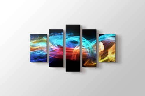Renkli dijital alevler görseli.
