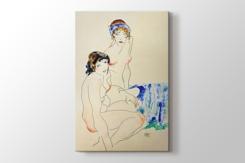 Two Female Nudes by the Water görseli.