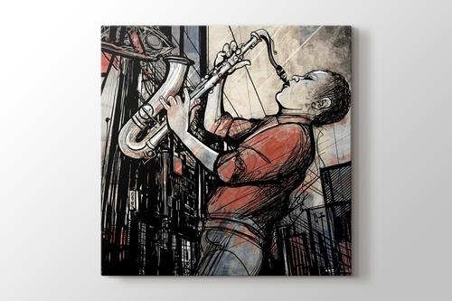 Sokaktaki Saksafon Sanatçısı görseli.