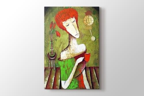 Woman Drinking Tea görseli.