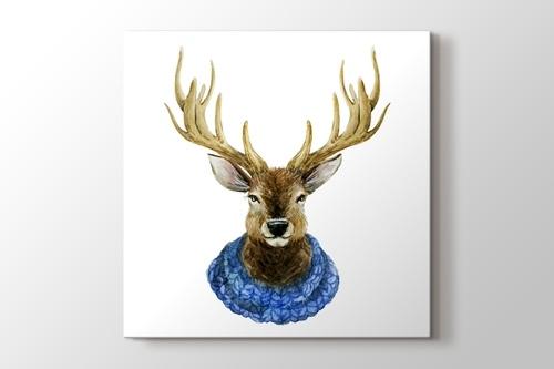 Watercolor Handsome Deer görseli.