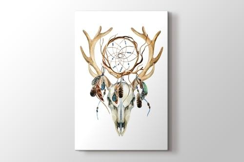 Deer Skull with Dreamcatcher görseli.