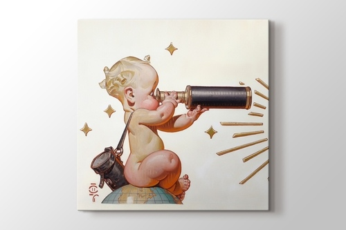 Retro Telescope Baby görseli.