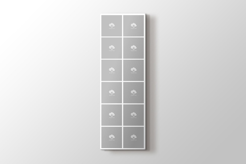 12 fotoğraftan vertika mozaik tablo görseli.