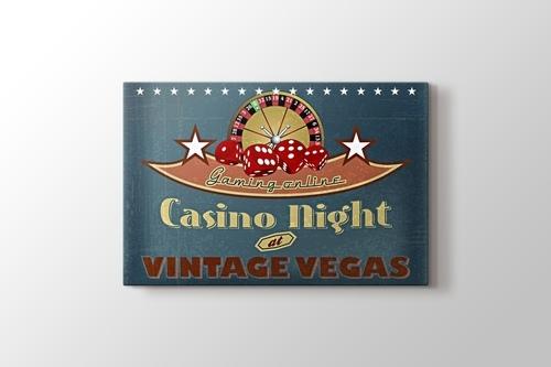 Vegas Casino Gecesi Vintage Poster görseli.