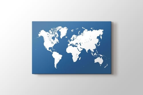 Mavi Silüet Dünya Haritası görseli.