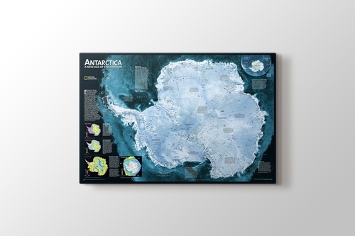 Antarktika Haritası görseli.