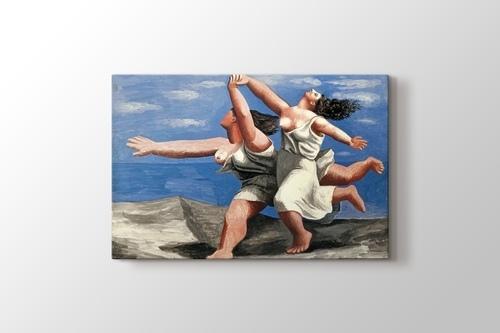 Two Women Running on the Beach görseli.