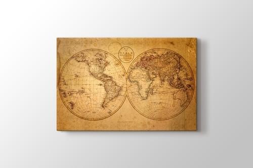 Eski Dünya Haritası 1793 görseli.