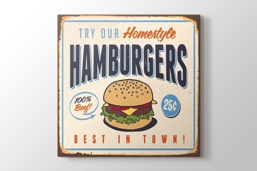 Vintage Burger Afişi görseli.
