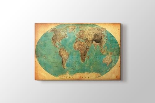 Eski Dünya Haritası 1938 görseli.