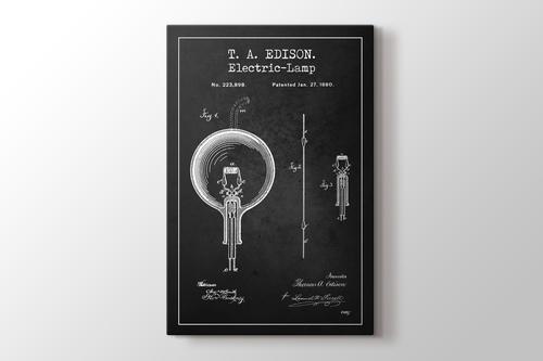 Thomas Edison Electric Lamp Patent görseli.