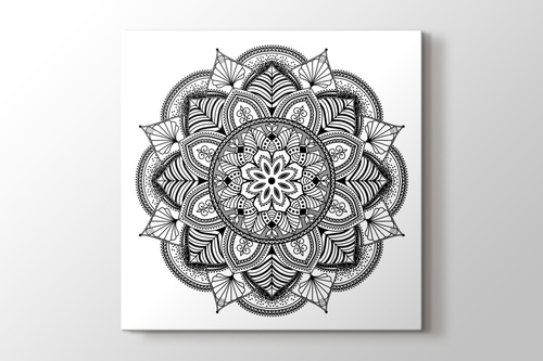 Çiçek desenli mandala tablo görseli.