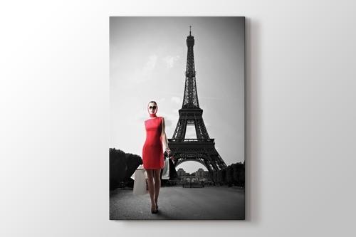 Red Dressed Woman görseli.