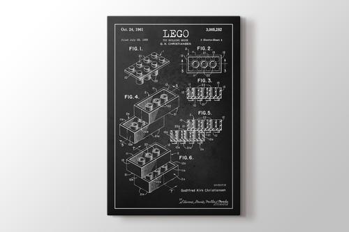 Lego Toy Building Brick Patent görseli.