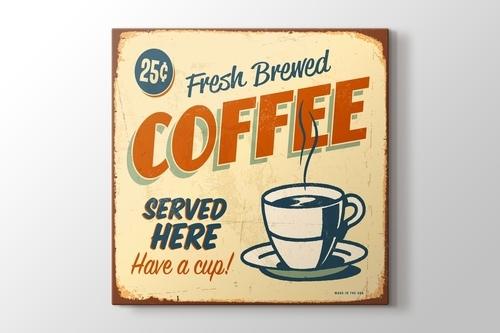 Vintage Kahveci Afişi görseli.