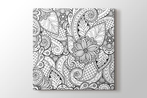 Floral boyama tablo görseli.