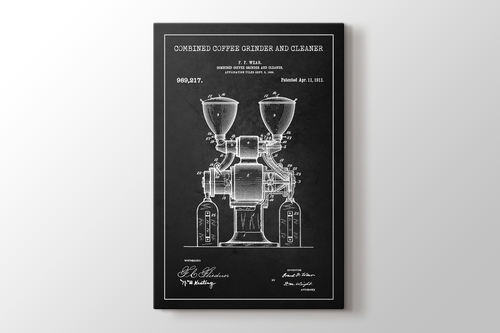 Coffee Grinder Patent görseli.