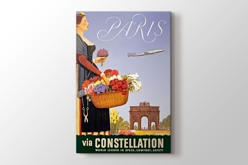 Paris Vintage Havayolu Posteri görseli.