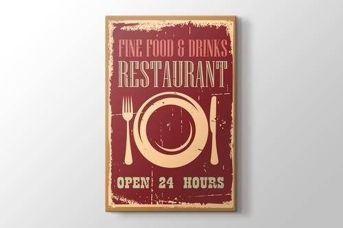 Vintage Restoran Afişi görseli.