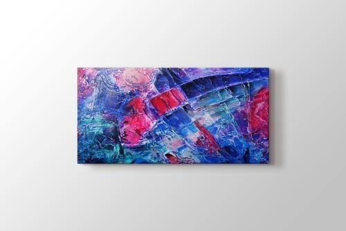Blue pink purple abstract görseli.