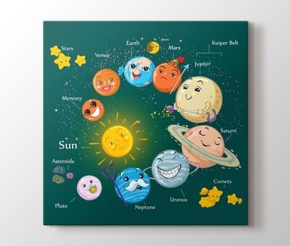 çocuklar Için Güneş Sistemi Kanvas Tablo Burada Pluscanvas