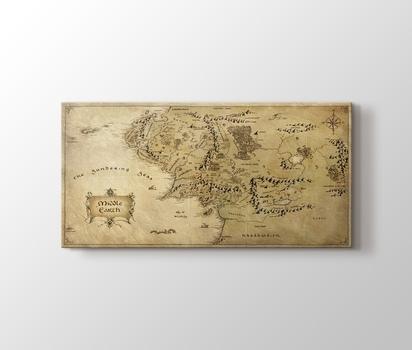 Orta Dünya Haritası Kanvas Tablo Burada Pluscanvas