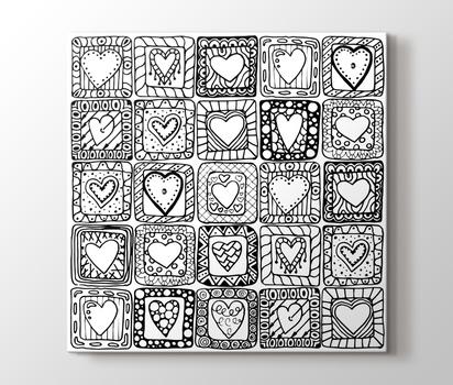 Kutu Kalpler Boyama Tablo Burada Pluscanvas