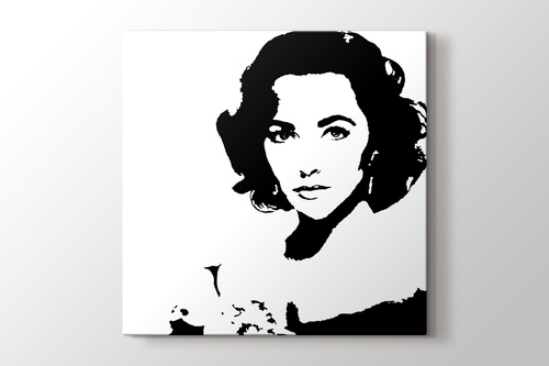 Elizabeth Taylor - Pop Art görseli.