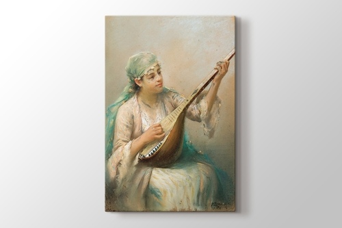 Woman Playing a String Instrument görseli.